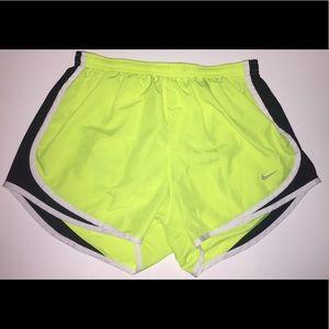 Neon Green Nike Tempo Shorts